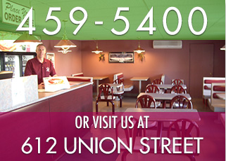 Contact New England Pizza at 506-459-5400 or visit us at 612 Union Street, Fredericton